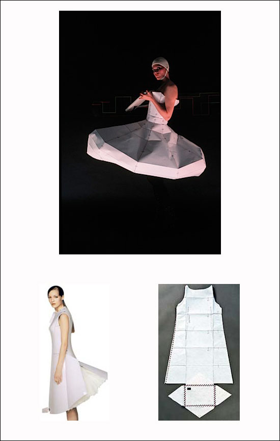 Fashion design paper email dress