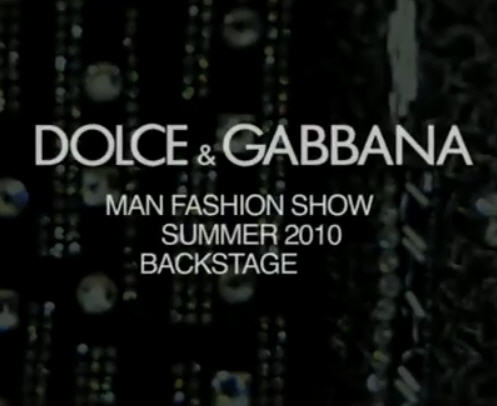 Dolce & Gabbana Men's Spring 2010 – BS