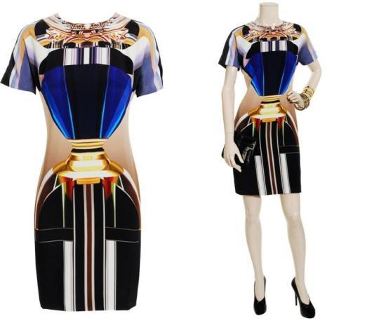 Mary Katrantzou Silk Print Dress